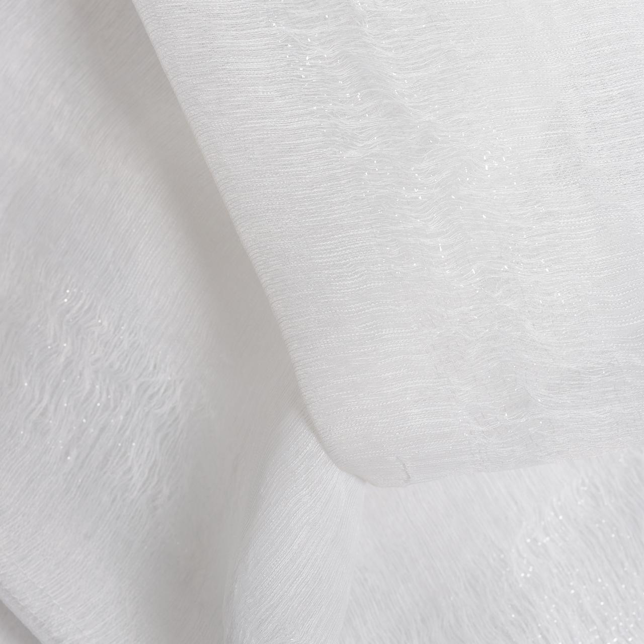 Тюль плотный структурный со вставками люрекса