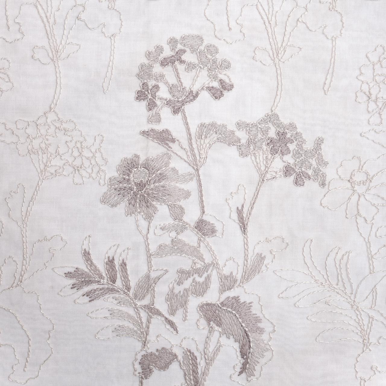 Тюль с вышивкой цветы