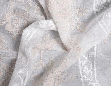 Тюль с вышивкой крестиком
