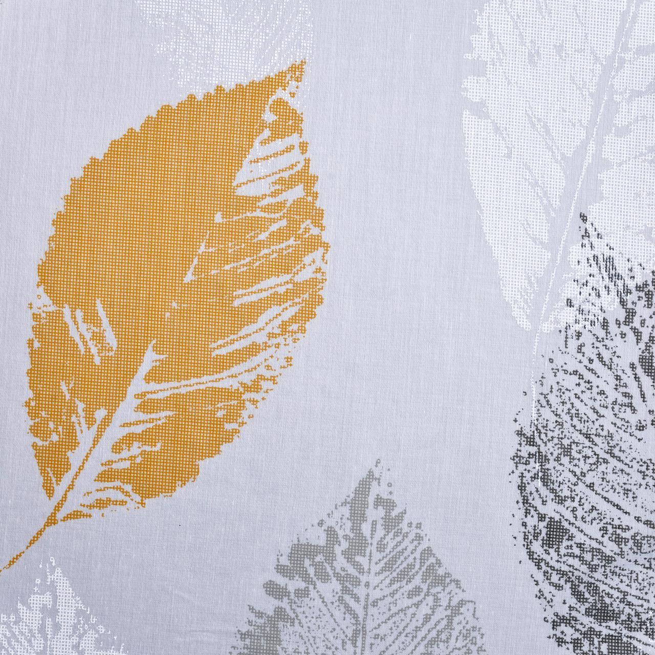 Тюль в жёлтые листья