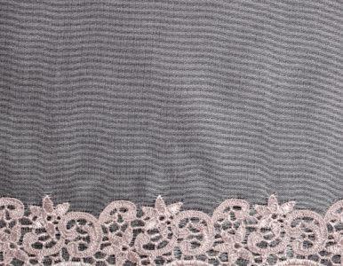Тюль классический с вышивкой внизу