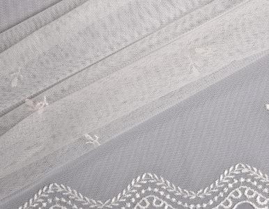 Тюль классический с вышивкой и фигурным низом