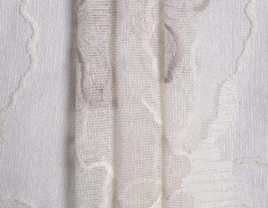 Тюль сетка с абстрактной вышивкой