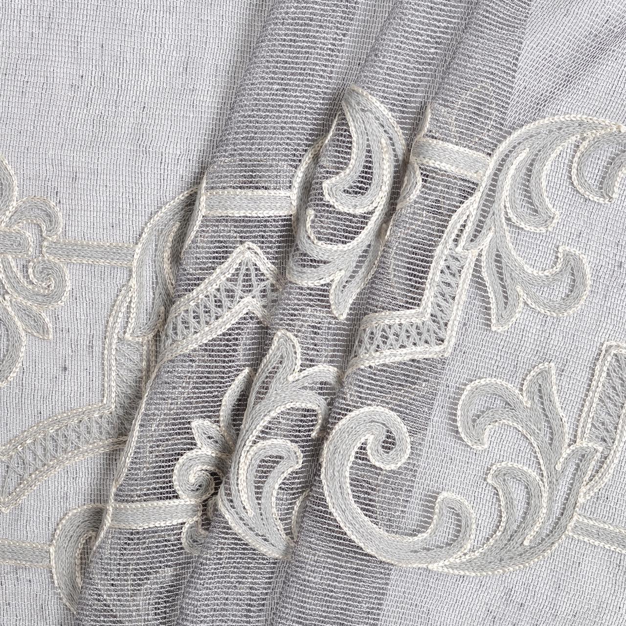 Тюль классический с вышивкой