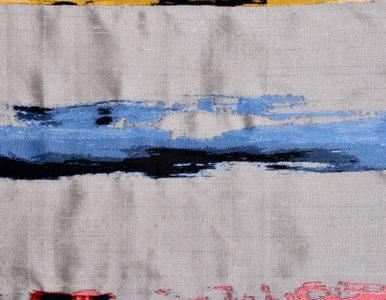 Шторная ткань в полоску — имитация дикого шёлка