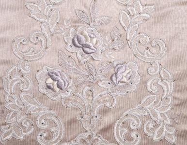 Шторная ткань с классической вышивкой