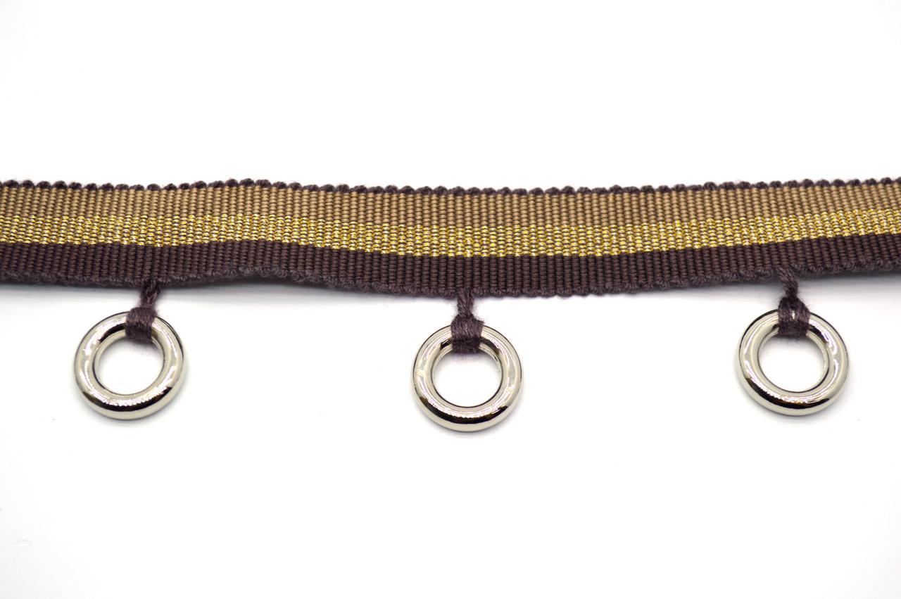 Тесьма декоративная с кольцами